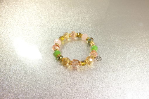 Multicolored Stretchable Crystal Bead Glass Bracelet