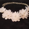 PearlyWhite Flower Collar Necklace