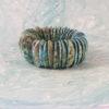 Turquoise Hued Sea Shell Bead Retro Stretch Bracelet