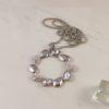 Silver Tears Pendant Necklace