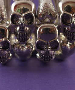 Skull Skeleton Wide Cuff Stretch Bracelet