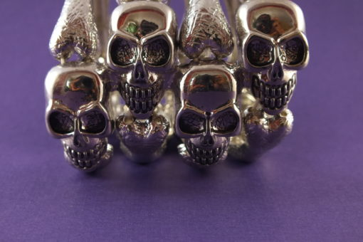 Skull Skeleton Wide Cuff Stretch Bracelet