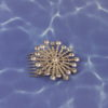SunBurst Crystal Accent Hair Comb