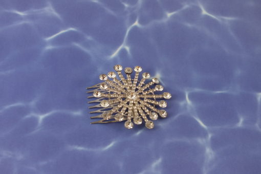 SunBurst Crystal Accent Hair Comb