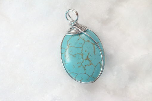 Howalite Oval Pendant