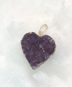 Heartshaped Amethyst Pendant