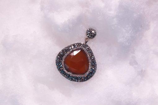 Cornelion Silver Pendant