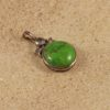 Genuine Turquoise Small Oval Pendant