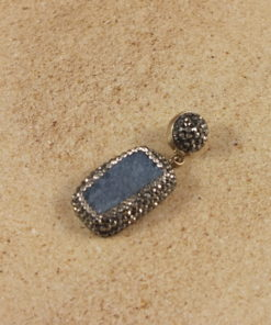 Druzy Rectangular Shaped Small Pendant