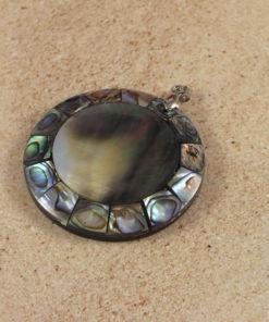 Paua Shell Round Pendant