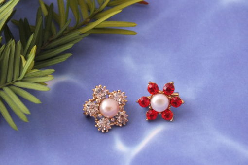 Mini Sized Pin Brooch with Genuine Pearl