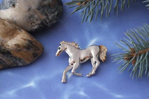Lone Horse Brooch