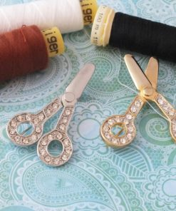 Diamante Scissors Brooch