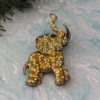 Rhinestone Elephant With Brooch