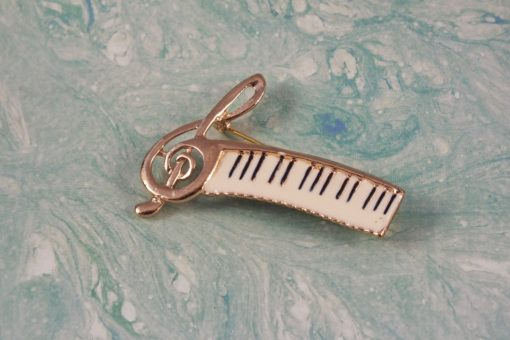 Musical Score Brooch