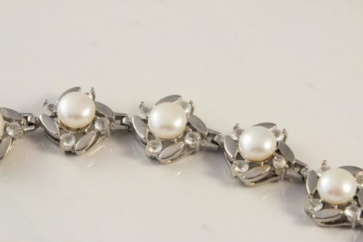 Genuine White Pearls in Silver Encasings