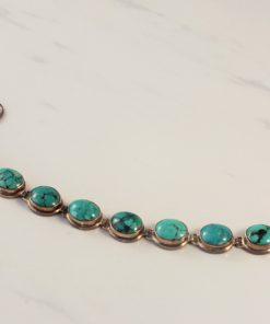 Oval Turquoise Link Bracelet