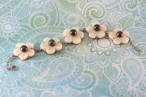 Flowers Of Pearls Bracelet