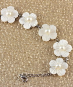 Flowers Of Pearls Bracelet