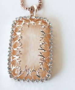 Filigree Rectangular Gold tone