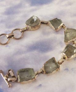 Green Amethyst Link Bracelet